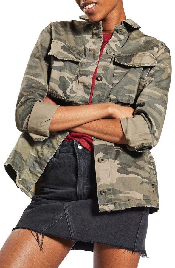 Main Image - Sampson Camo Shirt Jacket (Regular & Petite)