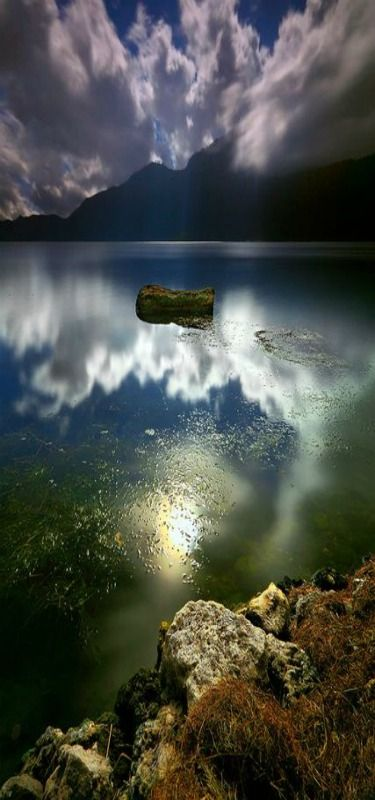 'Better left unsaid' - Caldera, Blue reflections, Buahan, Bali, Indonesia