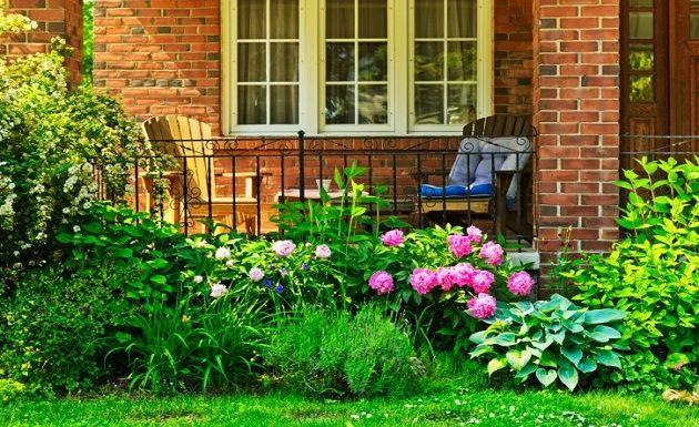 Pequeño jardín inglés