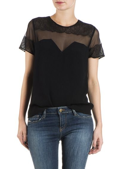 Top dentelle Noir by SANDRO