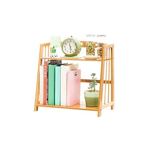 Yjlgryf Household Bookcase Desktop Bookshelf Student Mini Desk Storage Shelf Book Album Display T Small Bookcase Small Bookshelf Living Room Bookcase