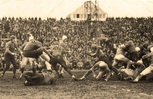 Happy Thanksgiving! Here's the first NFL Thanksgiving day game (1934). Click the photo and then Details to see who played, and who won.