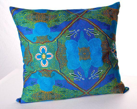 Australian Aboriginal Art Cushion Cover by AboriginalOzArt on Etsy