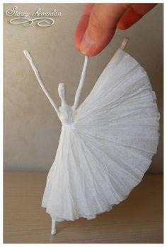 """DIY Napkin Paper Ballerina inspired by Edgar Degas's """"Little Dancer"""""""