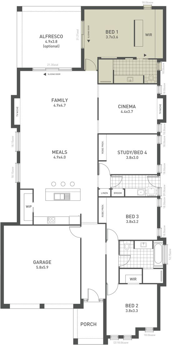 Design Six Floorplan Option A From The Weeks And Macklin