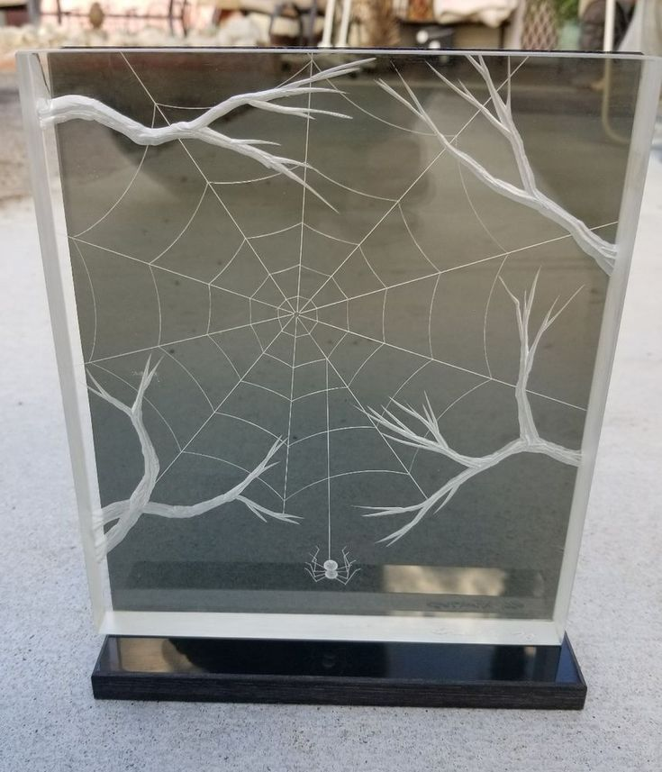 AWESOME JOSEPH GALVAN LUCITE/ACRYLIC SCULPTURE  SPIDER SPINNING HER WEB #MidCenturyModern