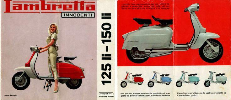 LAMBRETTA INNOCENTI 125LI-150LI-BROCHURE/DEPLIANT D EPOCA(OLD BROCHURE)MOTO-1962