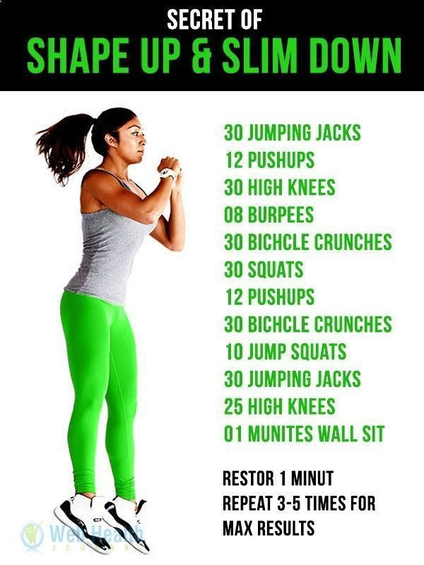 how to slim in one week at home