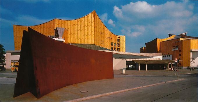 Berlin , Phillarmonie, Concert hall, built 1960-1963 by Hans Scharoun