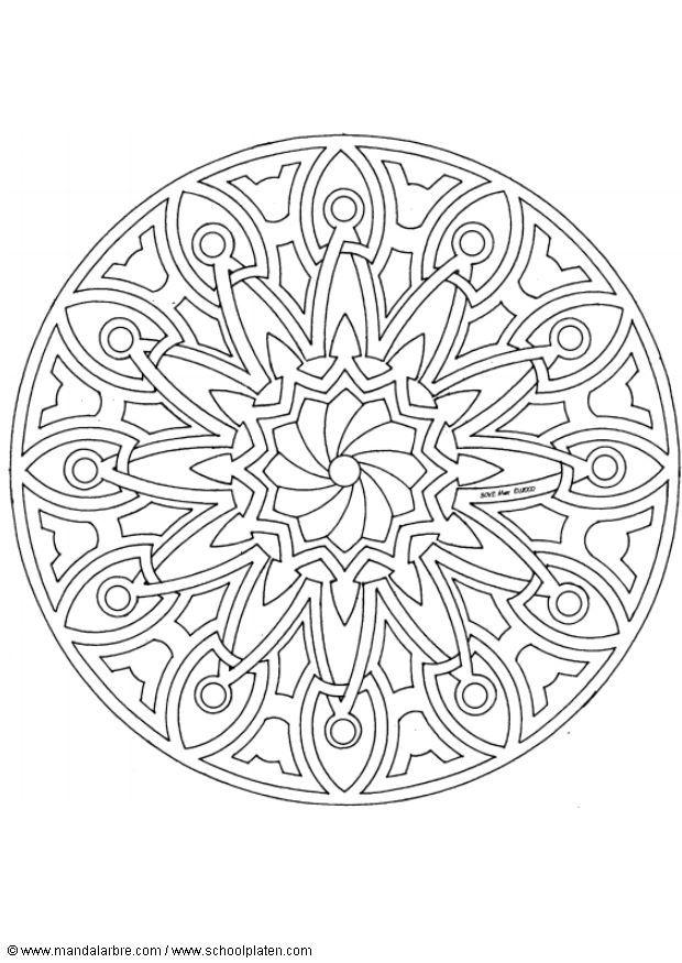 Free Printable Mandala Coloring Pages   Back to Coloring pages special mandala category