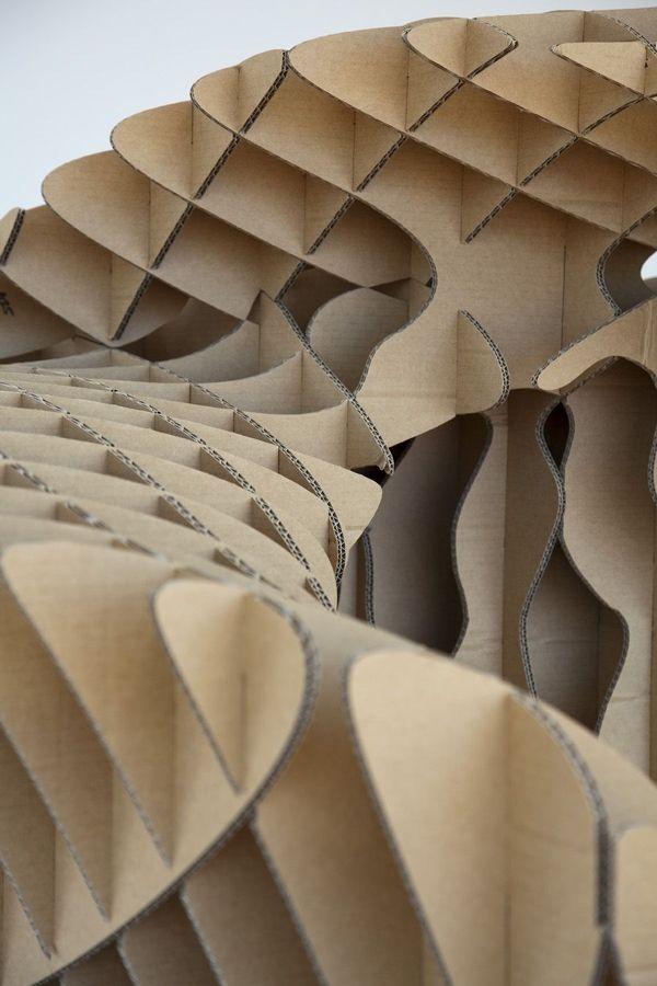 ICON- Parametric Cardboard Sculpture / Toby Horricks - eVolo   Architecture Magazine