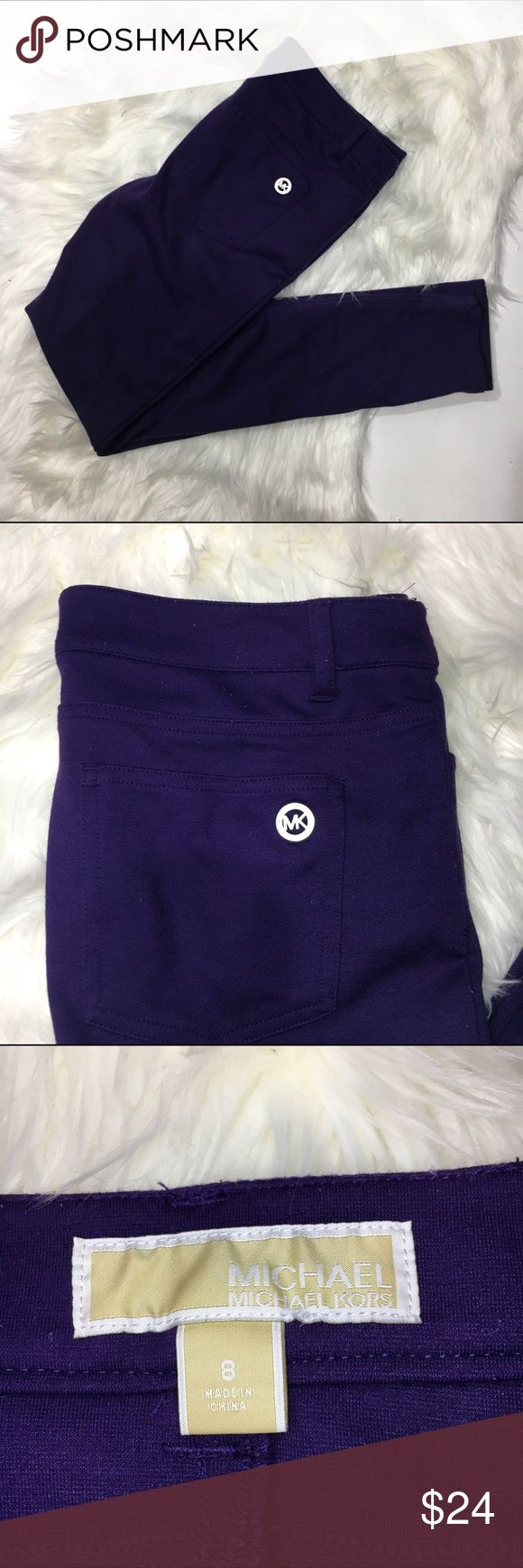 "Michael Kors Stretch purple jegging Women's Michael kors stretch purple skinny jegging. some pilling to fabric. size 8  waist laying flat-17"" inseam-29"" MICHAEL Michael Kors Pants Leggings"