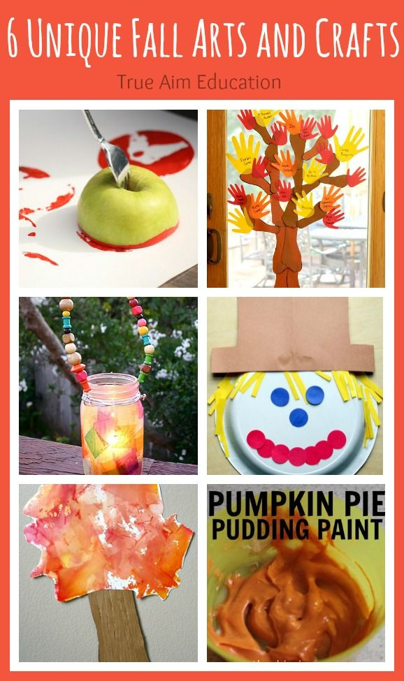 6 Fall Arts and Crafts Activities Including a fall lantern, hand print tree, and more!