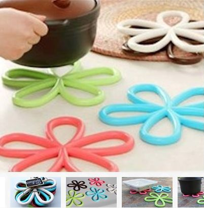 Kitchen Daisy no more UGLY hot pads, I love these bright and colorful option, Kitchen hacks