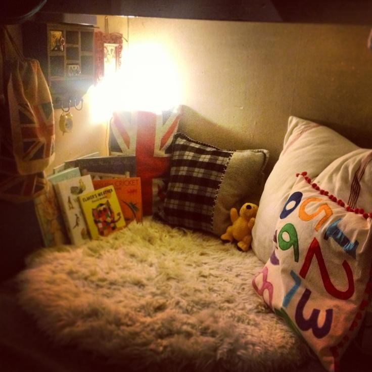 A custom made reading area for my boy.