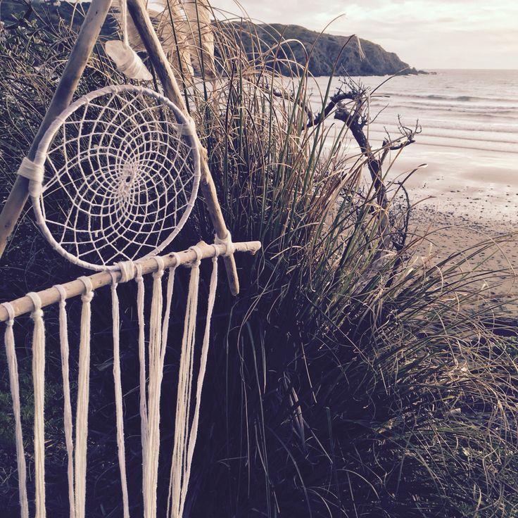 dream catcher, triangle, dream, catcher, New Zealand, Beach