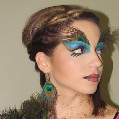 Student work at Ruby Makeup Academy.