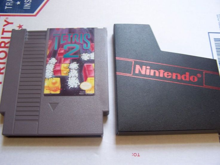 Tetris 2 Used Game with Sleeve Cleaned Tested (NES, 1993)