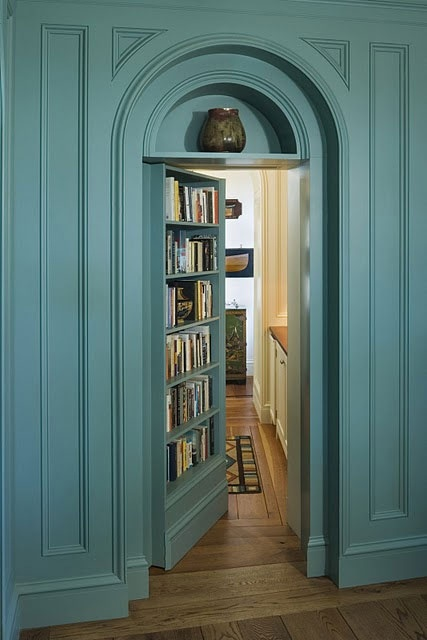 bookcase + beyond....I am DETERMINED to have a hidden room or a hidden hallway with hidden rooms somewhere in my house.