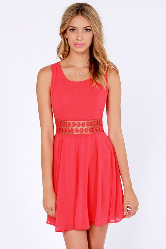 Afternoon in the Park Red Chiffon Dress at LuLus.com! - 41
