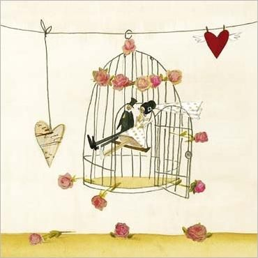 illustration: Birdcages Details, Birds Cages, The Word, Birdcages Pictures, Silk Leffler, Art Inspiration, Greeting Cards, Wedding Design, The Birdcages