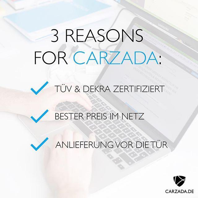 """""""Welche Vorteile habe ich, wenn ich mein Auto Online kaufe?"""" - Wir haben die entscheidenden Antworten und Argumente für Euch! - TÜV & DEKRA zertifizierte Fahrzeuge - Anlieferung vor die Haustür - 1-Jahres-Garantie  Mehr dazu: https://www.carzada.de/so-funktionierts  #CARZADA #Traumwagen #Auto #Online #Kaufen #und #Verkaufen #Premium #Gebrauchtwagen #bestprice #usedcar #Munich"""