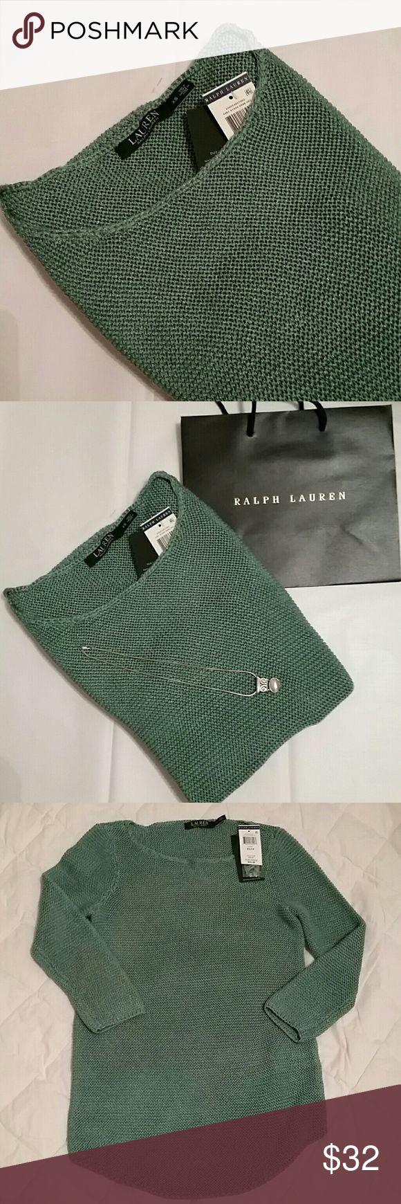♡RALPH LAUREN SWEATER Sage green Ralph Lauren knit sweater  Size XS Measurements: armpit to pit 15 inches flat, sleeve 19 inches, length shoulder to hem 25 inches. Brand New Tag also has extra thread. *I'm finding you CHRISTMAS DEALS FOR YOUR LIST** GREAT CHRISTMAS PRESENT ♡ ♡ ♡ Ralph Lauren Sweaters