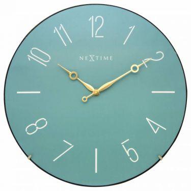 Zegar ścienny Trendy Dome, turkusowy - NEXTIME - DECO Salon