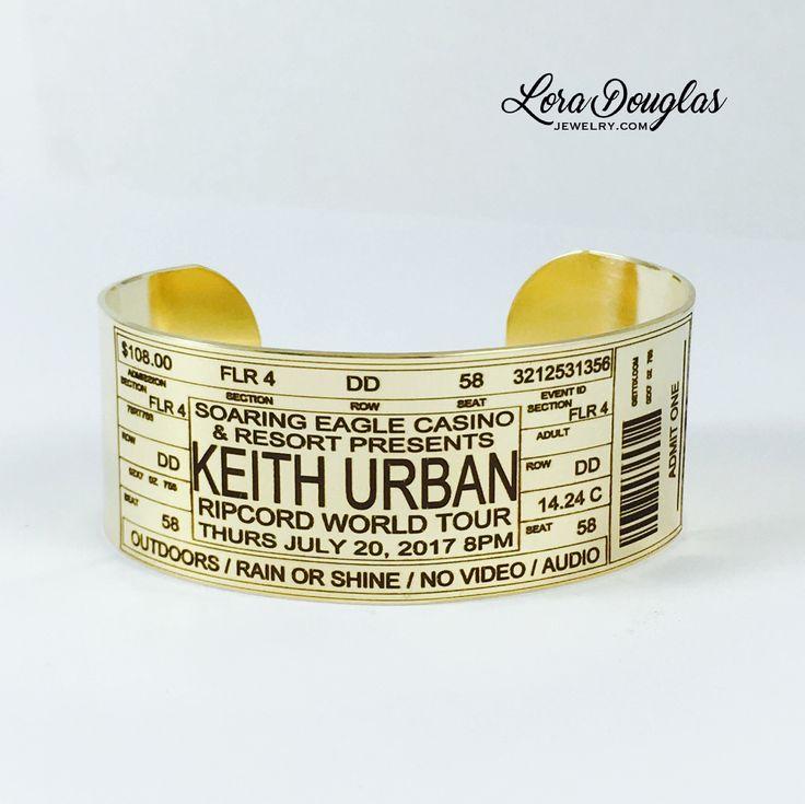 Keith Urban Concert Ticket Cuff #Jewelry #handmadejewelry #accessories #style #handmade #keithurban #etsy #etsyseller #etsyjewelry #ripcordworldtour #fashionjewelry #fashion #concert #livemusic #concerts #ripcord #music #soaringeaglecasinoandresort