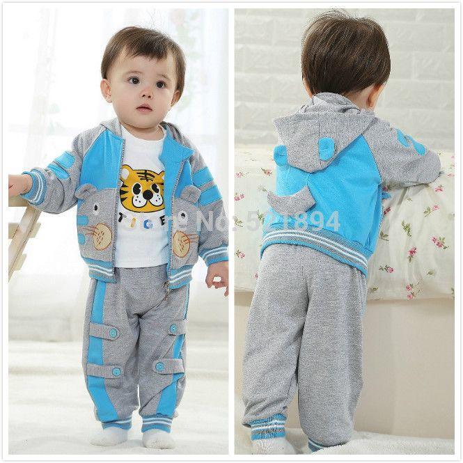 0-2Y ребенок мальчик одежда тигр 3 шт. мальчиков спортивный костюм мальчиков одежда для весна осень детская одежда мальчик комплект одежды