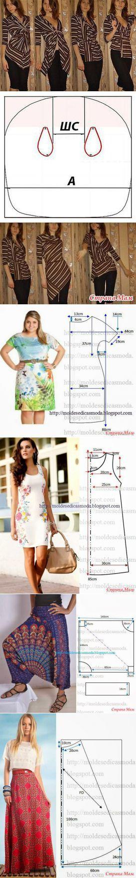 Sencillo de corte sencillo modelo - la costura y el bordado rápida para imperfecta - mamá País