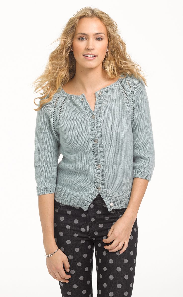 Free Knitting Pattern Raglan Sleeve Cardigan : 17 migliori immagini su Le maglie top down. su Pinterest ...