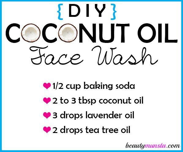 Make a DIY coconut oil face wash for beautiful skin!