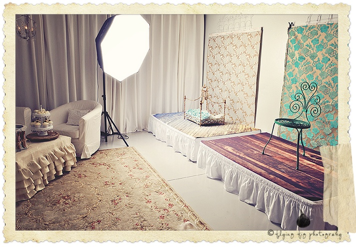 Photography studio- set up small sets for kids ahead of time