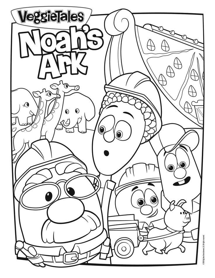 Noah's Ark Coloring Page Veggie Tales Pinterest Noah