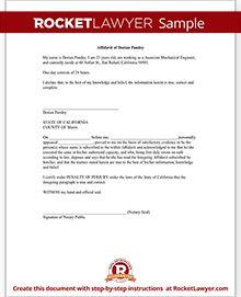 Affidavit Form - Create Free General Affidavit Form