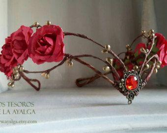 elven bride tiara elven tiara fairy circlet by Ayalga on Etsy