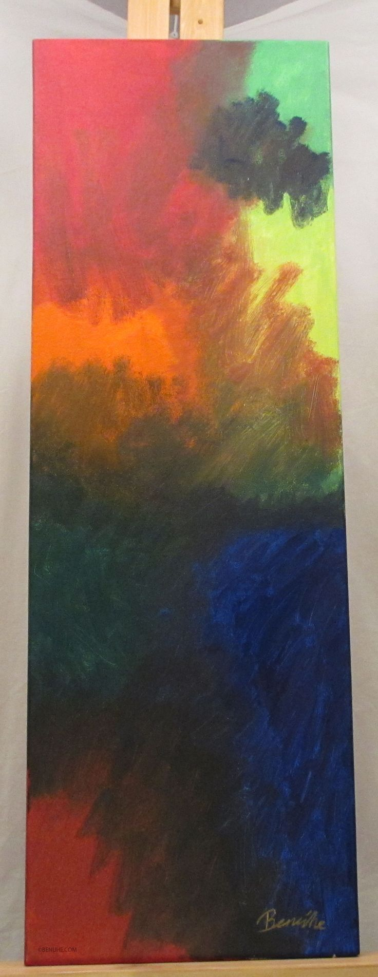Mistake90x30cmAcrylic paint on canvas