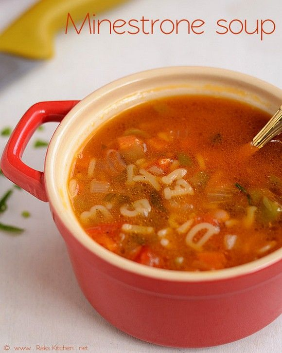Best Pasta Recipes on the Net (August 2013 Edition): Minestrone Soup with Pasta recipe