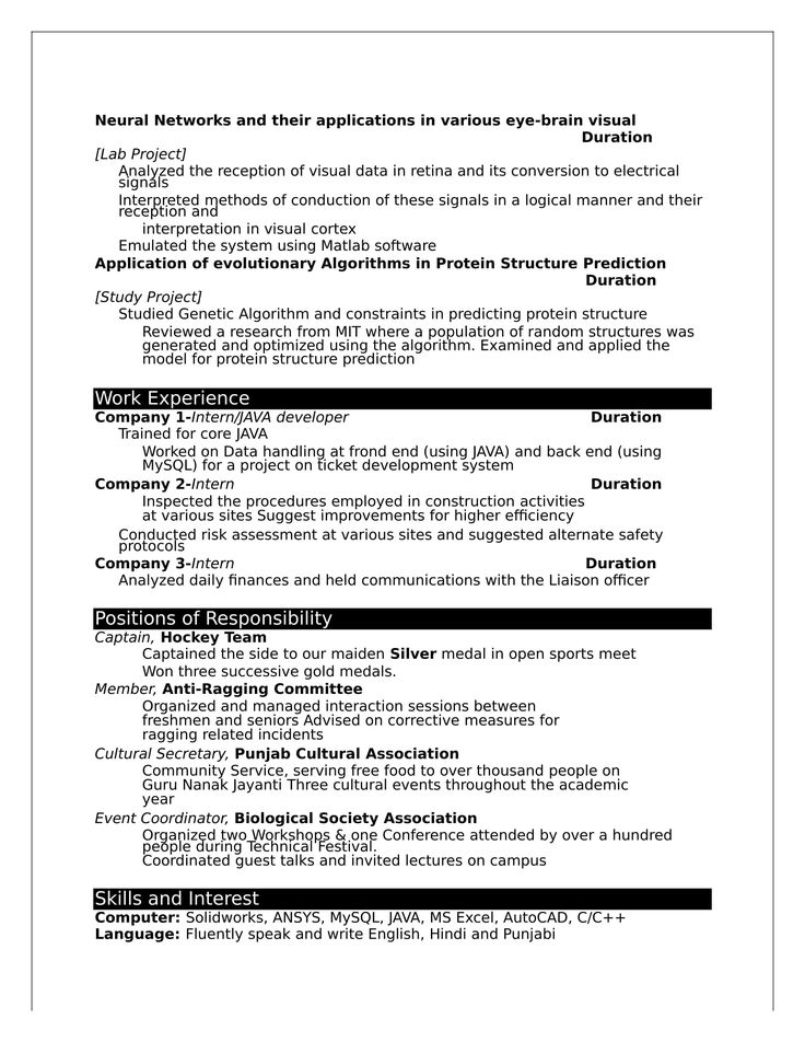 22++ Resume for freshers word format trends