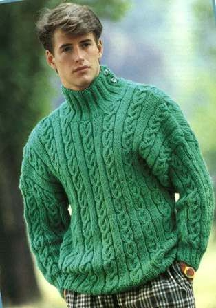 1980s Mens Knitted Jumper Pattern PDF No  From by TimelessOne, $2.99