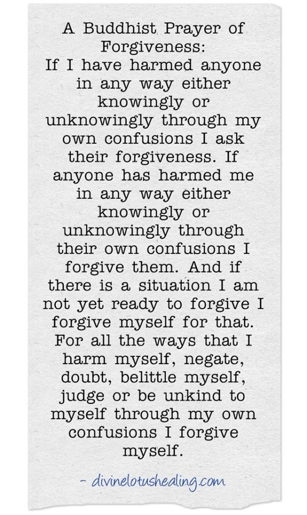 Buddhist Forgiveness Prayer