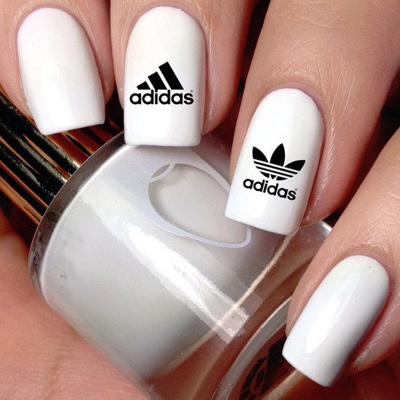 ADIDAS Waterslide Nail Decals by YungKokoNails on Etsy