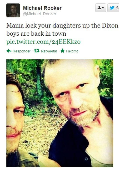 MICHAEL ROOKER'S INSTAGRAM ~ IT'S A GREAT WARNING BUT WE DON'T WANT TO BE LOCKED UP. WE LOVE US SOME DIXON BROTHER'S.
