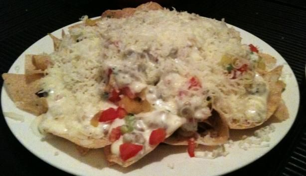 We love(d?) the Nachos Napoli from Macaroni Grill.  I'll have to make these sometime.