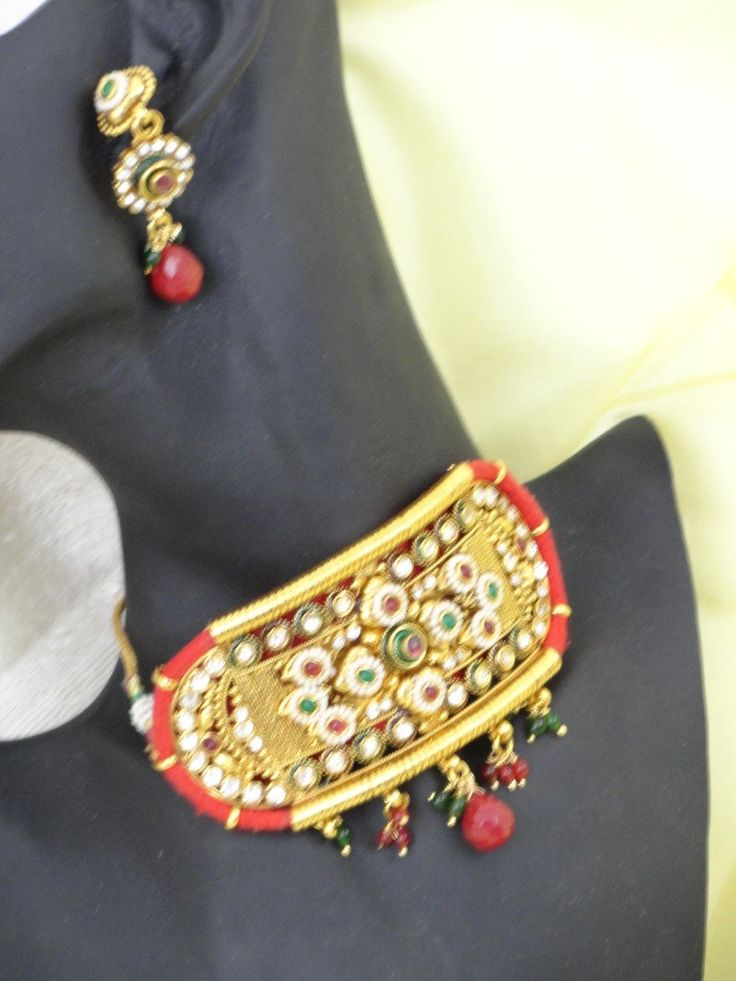 Choker chain from India. Wedding necklace & ear rings jewelry. Handmad – Artikrti