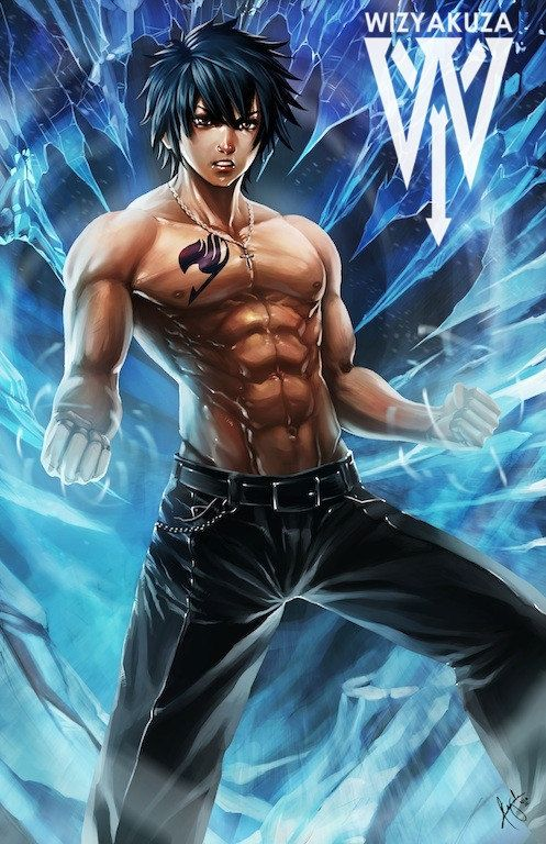 Gray Fullbuster Fairy Tail 11 x 17 Digital Print by Wizyakuza