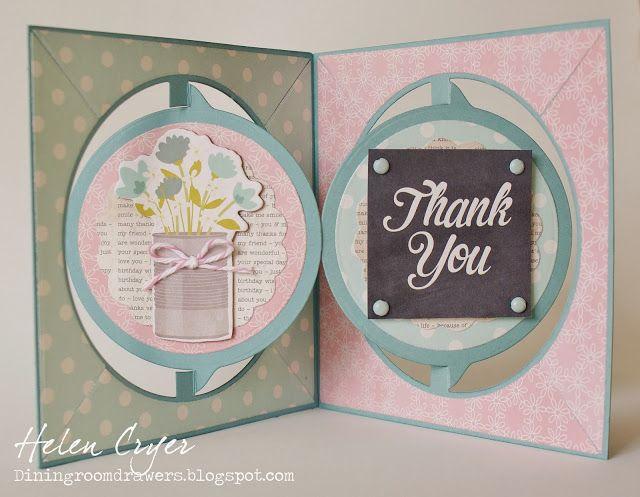 Circle Accordion 'Pop It Ups' Thank You Card