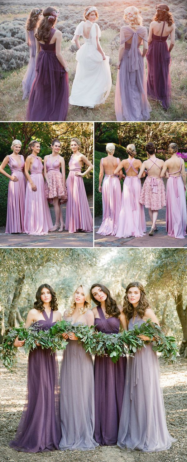 20 Chic and Stylish Convertible (Twist-Wrap) Bridesmaid Dresses - Purple dresses