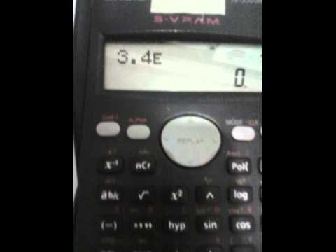 Notación científica en calculadora Casio - YouTube